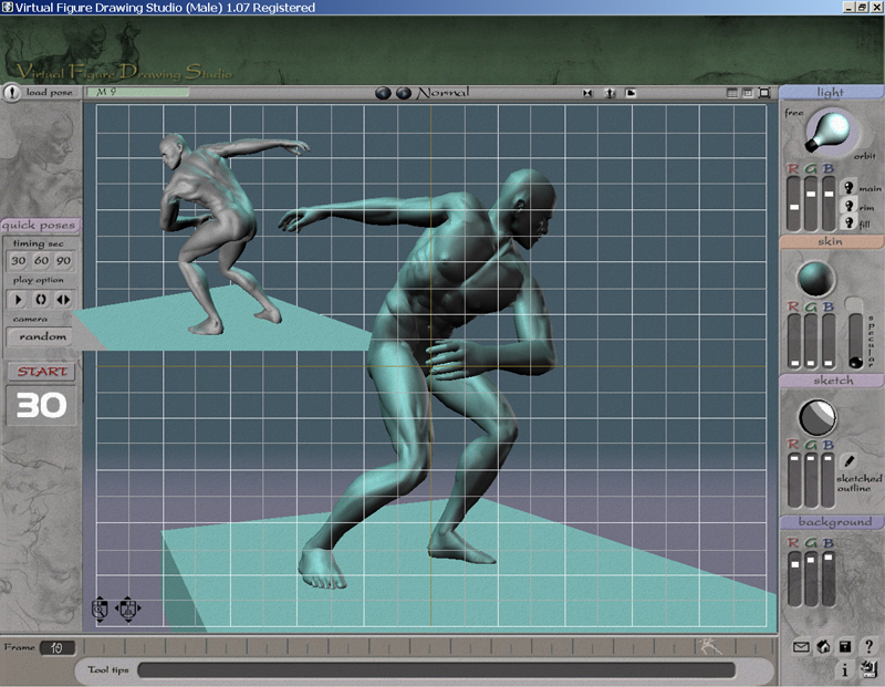 3d Virtual Life Figure Drawing Studio Male